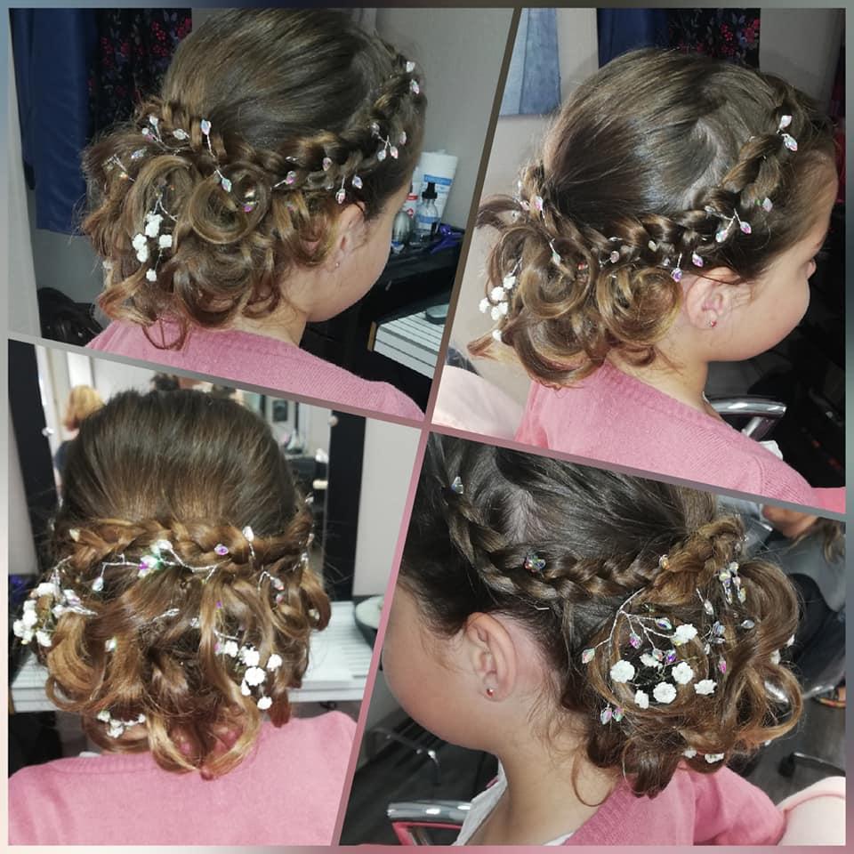 coiffure ceremonie enfant chignon