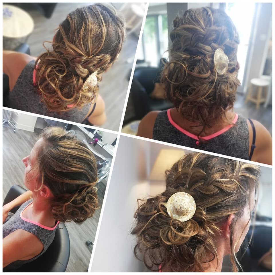 coiffure cérémonie chignon
