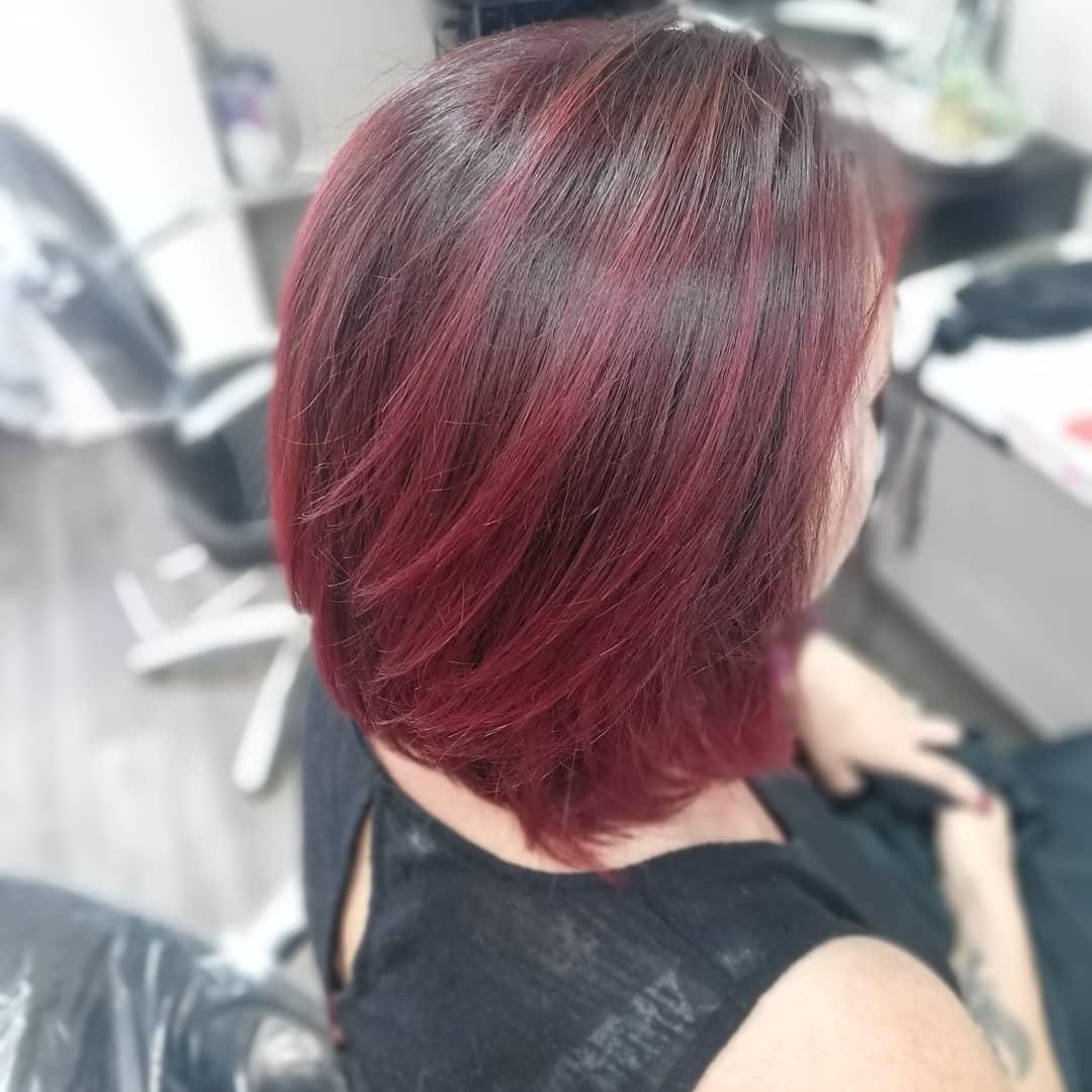 couleur ombre rouge