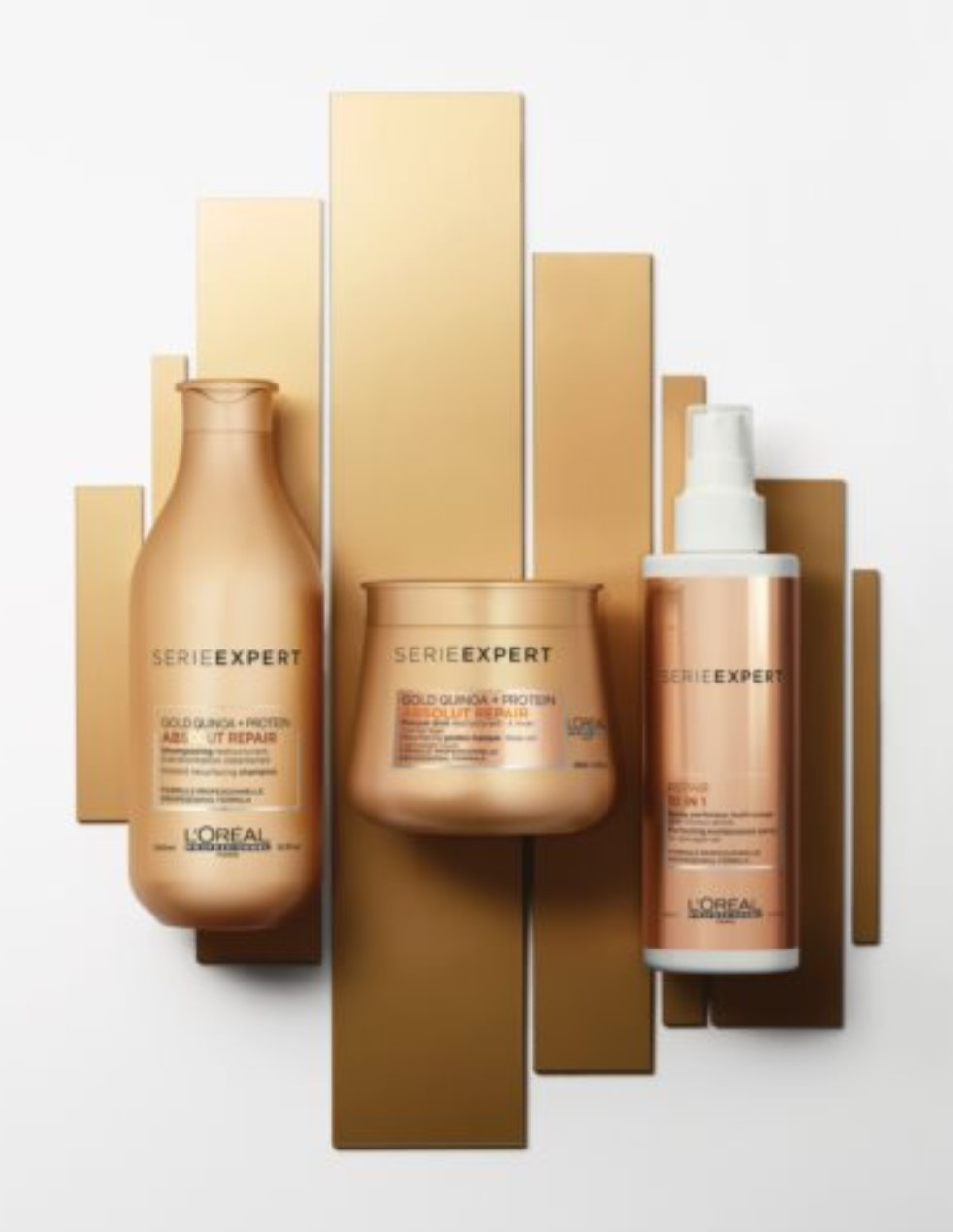 Gamme soins loreal série expert gold pour cheveux