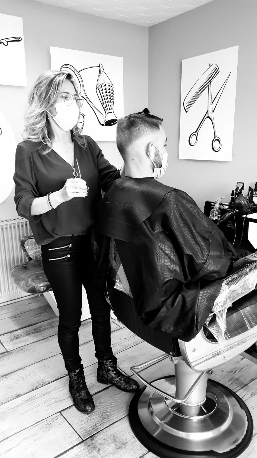 coiffure homme dégradé américain Coiff'Mod